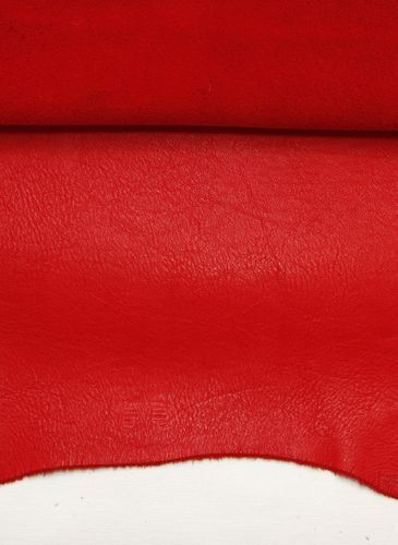 Ecopell nappa leather pre-cut blazing red
