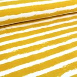 Organic Sweat Mellow Stripes - mustard (GOTS)